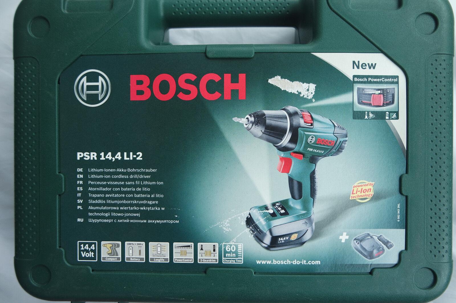 Bosch PSR 14,4 LI-2 Akku Bohrschrauber 1 Akku Akkuschrauber 14,4 volt