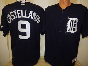 huge selection of bc0ac 0cac0 Details about 999 MAJESTIC Detroit Tigers NICHOLAS CASTELLANOS Baseball  Cool Base JERSEY BLUE
