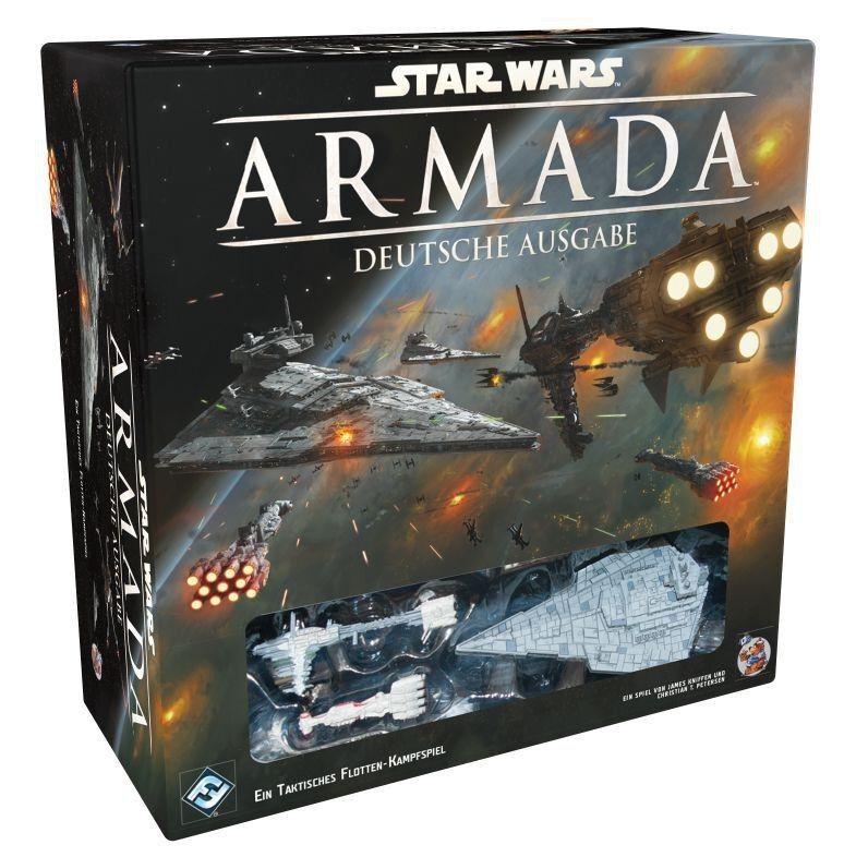 Star Wars Armada Gioco Base  Tedesco  Ala-X , Distruttore, Caccia Tie, Corvetta