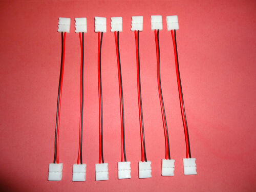 8 x Anschlusskabel 15 cm für 2 adrig SMD 3528 LED Stripe Streifen Steckverbinder