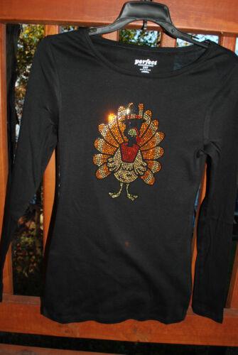 Thanksgiving Rhinestone Bling shirt XS S M L XL XXL 1X 2X 3X4X 5X Pilgrim Turkey