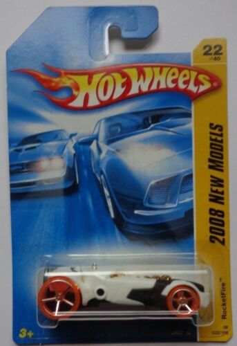 White Version 2008 Hot Wheels New Models Rocketfire 22//40