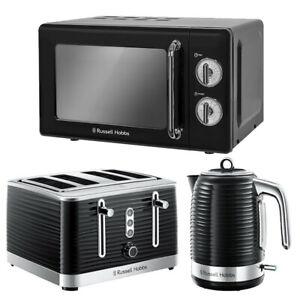 Microwave Kettle Toaster Set Black