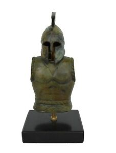 Antique Style Greek Spartan Corinthian Bronze Small Helmet With Snakes