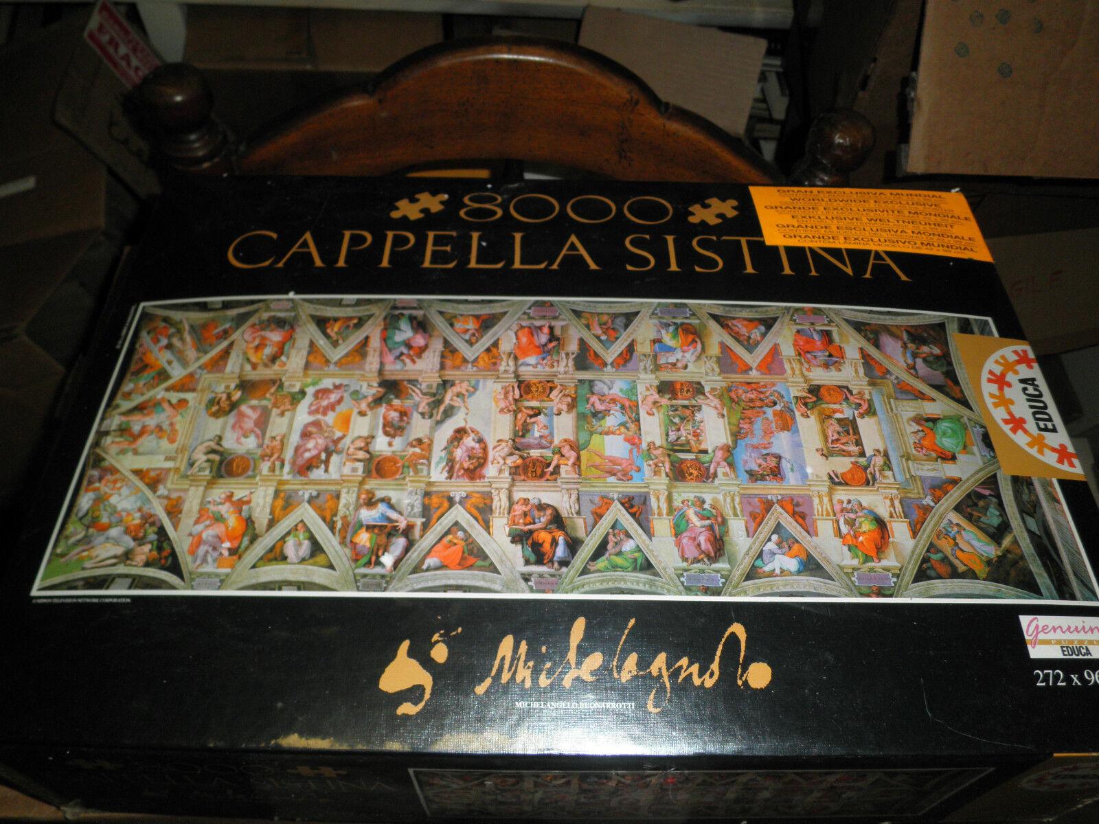 Educa 8000 piece puzzle Cappella Sistina puzzle rare Box Sealed Nuovo jigsaw NIB