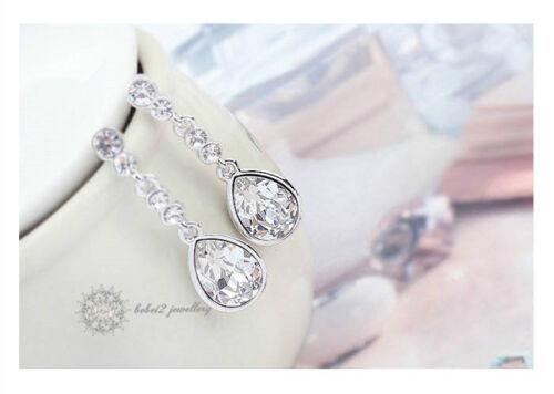 Wedding//Bridal//Austria Crystal//Long Drop Earring//RGE391