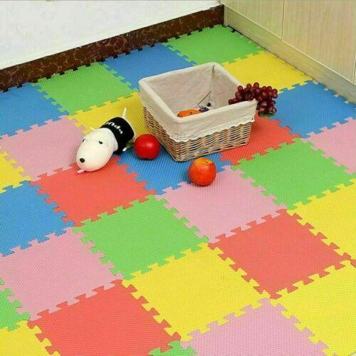 18Pcs Large EVA Foam Mat Mats Soft Floor Tiles Interlocking Play Kids Baby Gym
