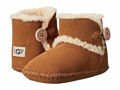 Infant Shoes UGG Kids Lemmy Suede Booties 1012146I Chestnut *New*