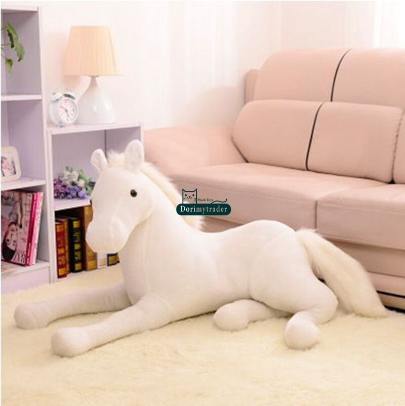 130cm X 60cm Giant Soft Horse Plush Emulational Stuffed Animal Toy Doll Kid Gift
