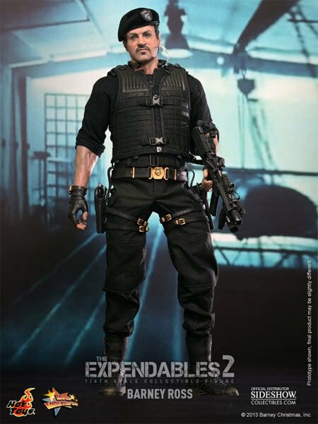 HOT TOYS Expendables 2 BARNEY ROSS 12