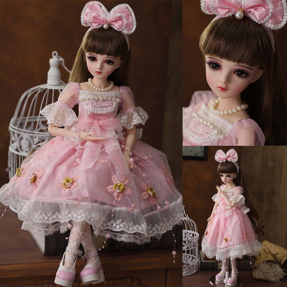 22  1 3 BJD muñecas encantadoras Niñas Regalo Con Gratis Cara Maquillaje Ojos Extraíble trajes