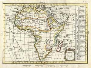 Africa-Afrika-altkolorierte-Kupferkarte-LATTRE-1783