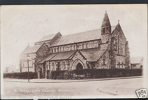 Wales-Postcard-St-Ethelwald-039-s-Church-Shotton-Flintshire-BH615