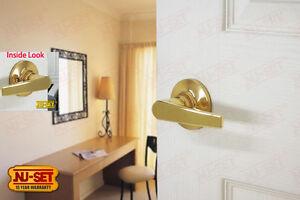 Nuset Tustin Passage Door Lever Lock Brass Ebay