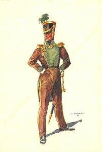 Illustration J.Demart Militaria Belgien Gewehrschützen Lüttich 1830
