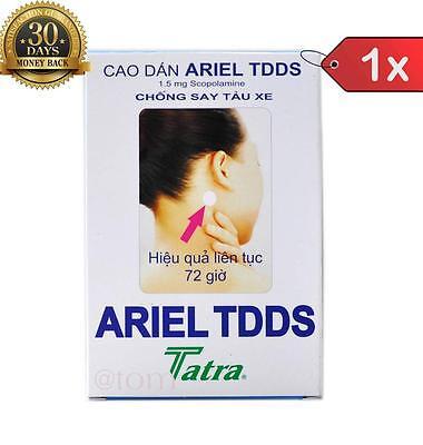 New 1x Ariel TDDS - Motion Sickness Patch - Scopolamine Patch - Best Price