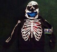 Boys Video Game Skull Skeleton Zombie Gamer Hoodie S 6/7 Black Jacket