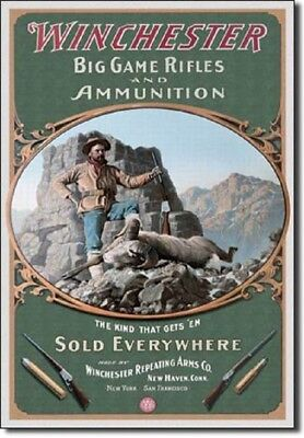 M1866 Yellow Boy Winchester Rifles and Ammunition For Sale Tin Metal Sign
