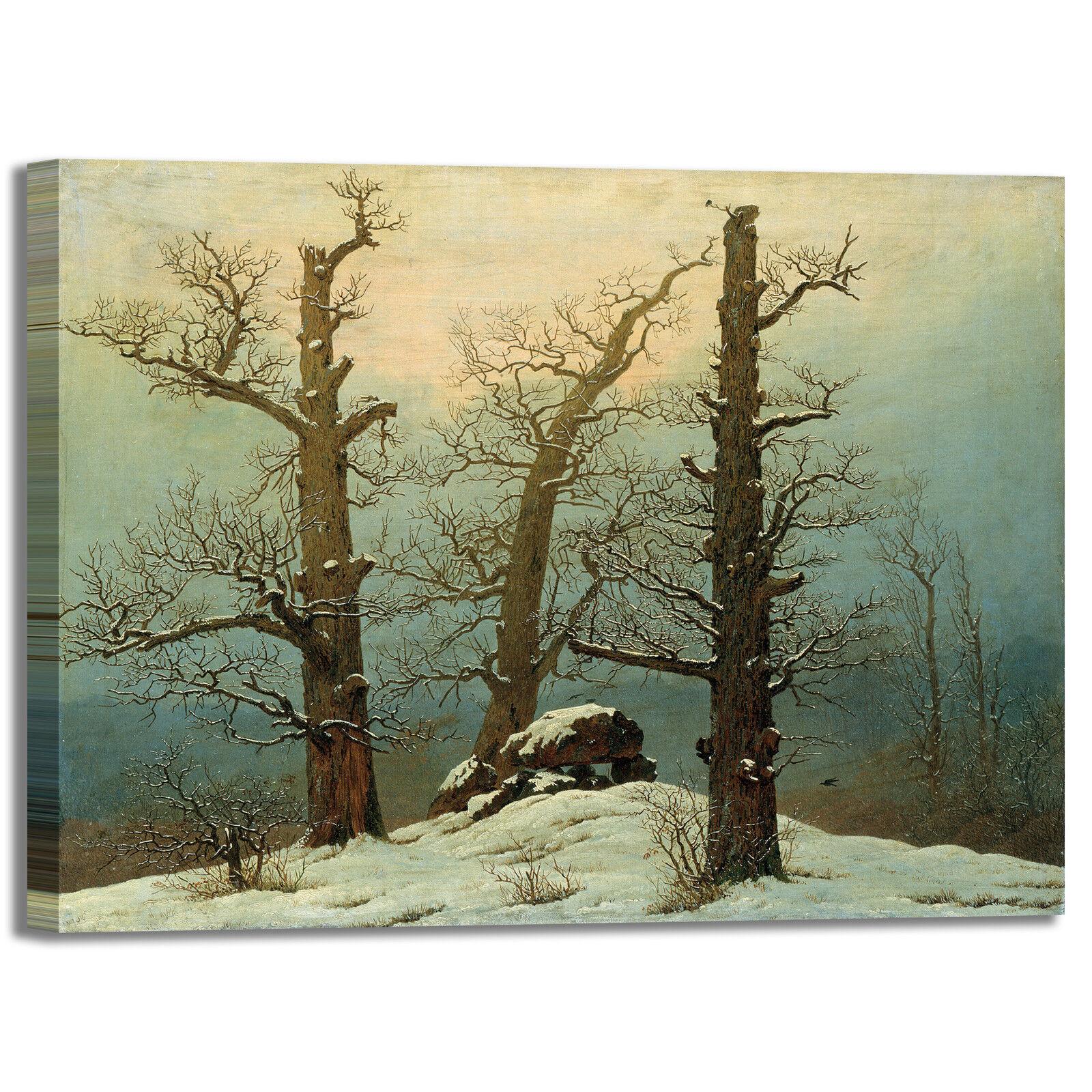 Caspar tumulo di neve design quadro stampa tela dipinto telaio arroto casa