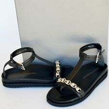Alexander McQueen New sz 38 - 8 Womens Designer Skull Flats Shoes Sandals black