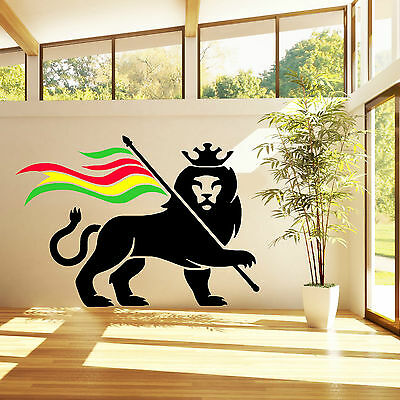 RASTA LION RASTAFARI LION OF JUDAH BOB MARLEY vinyl wall art sticker decal