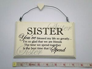 Image Is Loading Blessed Sister Wall Plaque Birthday Gift Ideas For
