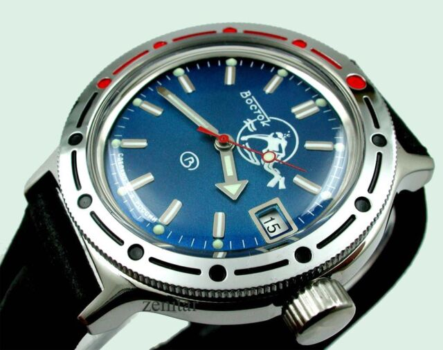 RUSSIAN  VOSTOK AUTO AMPHIBIAN  DIVER WATCH #420059d NEW