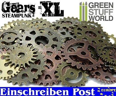 Steampunk-Sets & Zahnräder Größen-XL für Bastler - 85 gr - Schmuck Gothic Perlen