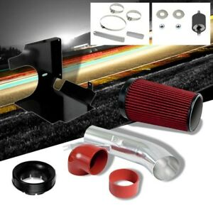 Red Chevy GMC Silverado Sierra 99-06 Cold Air Intake Polish With Heat Shield