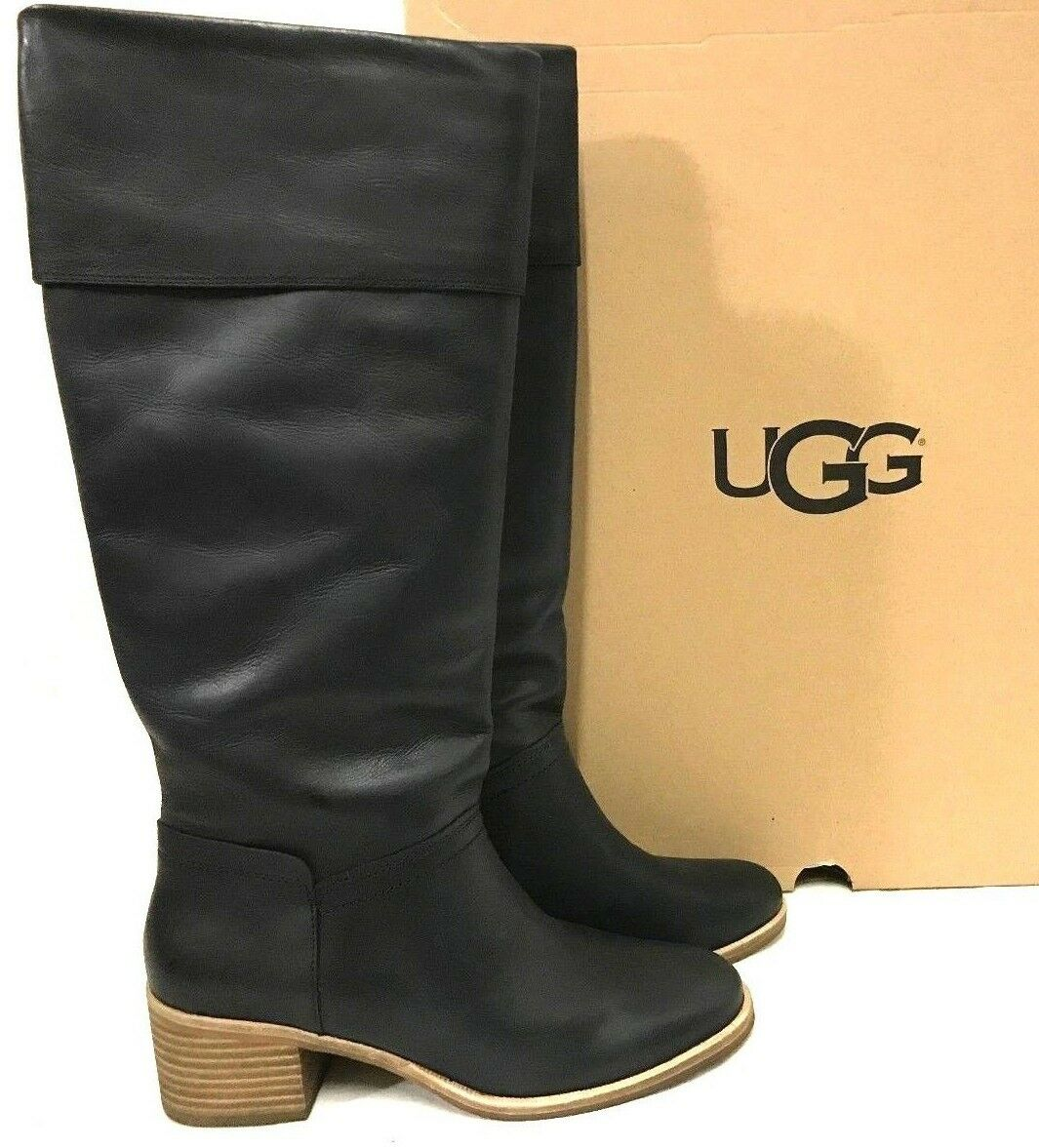a330f0c6630 UGG Women s Carlin Block Heel Tall BOOTS Size 10   D4 12 Blemish for ...