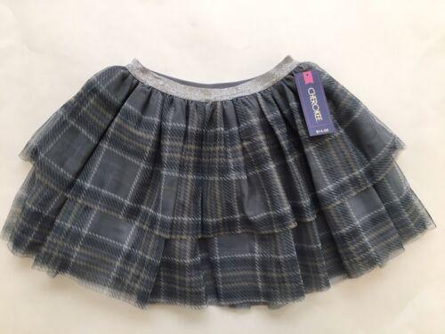NEW Cherokee Toddler Girl Grey Plaid Tulle Skirt Tutu Size 5T