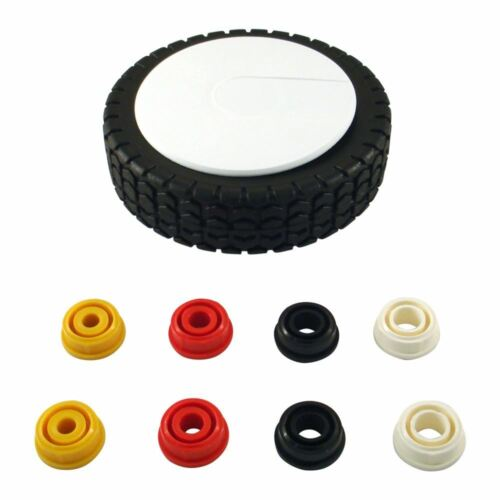 150mm Solid Plastic Lawnmower Wheel C//W 8mm 10mm 12mm 12.7mm Centre Bushes 6/""