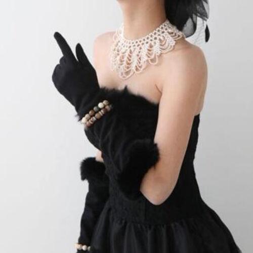 Handmade Imitation Pearls Hollowed Choker Bib Collar Statement Necklace #ZH1X