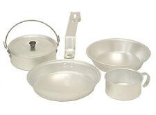 COLEMAN 1 Person Aluminum Camping Mess Kit Cookware Set - Cup, Pan, Pot, & Plate