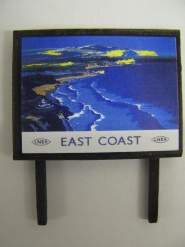 LNER East Coast Model Railway Billboard N /& OO Gauge