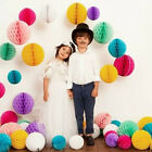 5/10PCS Paper Lantern Honeycomb Balls Tissue Pom Pom Party Wedding Hanging Decor