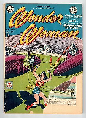 DC Comics WONDER WOMAN #34 Mar Apr 1949 vintage comic