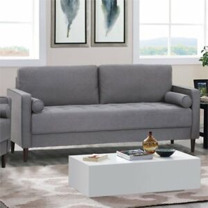 Lifestyle Solutions Lillith Heather Grey Polyester Sofa   LKLGF2SP3GU3073