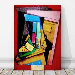 juan gris art still life with a poem canvas print 10x8 cubist