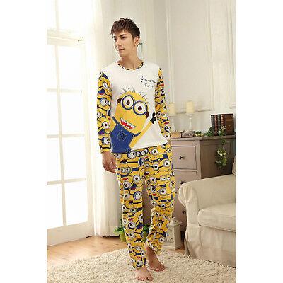 New Mens Male Despicable Me 2 Minion Long Top Trousers Pyjamas Pajamas mmpjs2
