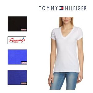 NEW-Tommy-Hilfiger-Women-039-s-Short-Sleeve-V-neck-T-Shirt-VARIETY-SIZE-amp-COLOR