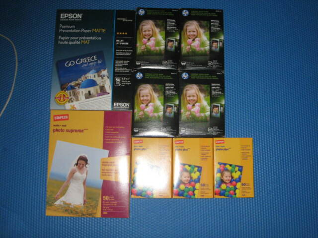Details about Large Lot of 4 x 6 Photo Paper New in Packages HP Kodak Gloss  Matte Semi-Gloss