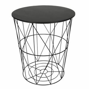 Details Sur Design Table D Appoint Noir Metal Drahtkorb Wc Table Basse Table Afficher Le Titre D Origine