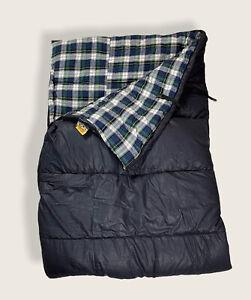 "Ridgeway by kelty Sleeping Bag 30""x70"" Navy Blue Plaid Interior Reversible Down."