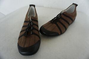 orthopaedisch-Natural-Feet-Damen-Schuhe-Schnnuerschuhe-Gr-40-Nubuk-Leder-Braun-NEU