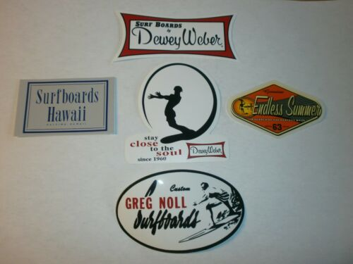 5 CLASSIC HIGH QUALITY CLASSIC SURF STICKER SURFBOARD FIN SET  YOU GET ALL 5
