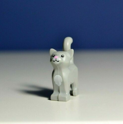 NEW LEGO  LIGHT BLUISH GREY KITTEN CAT ANIMAL