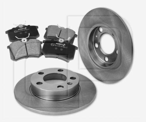 Stufenheck 9A4 hinten 232 mm 2 Bremsscheiben 4 Bremsbeläge VW Polo 6R 9N