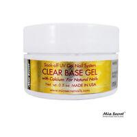 Mia Secret Clear Base Gel 0.5oz Made In Usa Acrylic Nail System Soak Off Gel