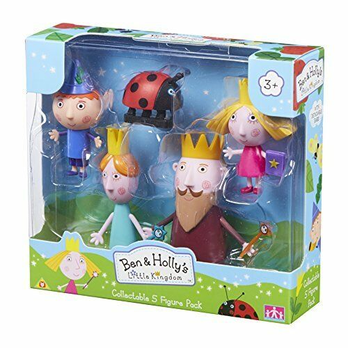 Ben /& Holly/'s Little Kingdom Collection 5 Figure pack Inc Queen /& King Chardon
